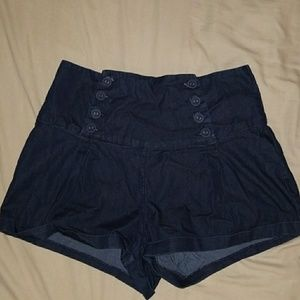 Retro high waist shorts